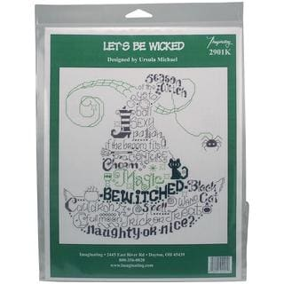 Let's Be Wicked Counted Cross Stitch Kit - 8.5 X8.75 14 Count