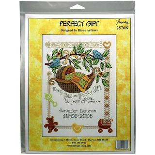 Perfect Gift Birth Record Counted Cross Stitch Kit - 7.5 X10 14 Count