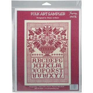 Folk Art Sampler Counted Cross Stitch Kit - 10 X14.75 14 Count