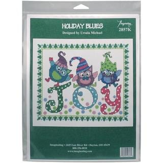 Holiday Blues Counted Cross Stitch Kit - 9.75 X8 14 Count