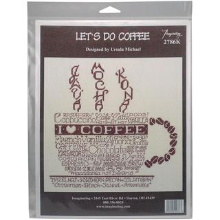 Let's Do Coffee Counted Cross Stitch Kit - 8.75 X8.75 14 Count