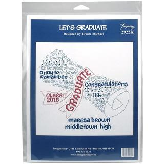 Let's Graduate Graduation Record Counted Cross Stitch Kit - 9.75 X9.5 14 Count