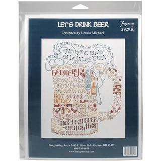 Let's Love Beer Counted Cross Stitch Kit - 7.75 X10 14 Count