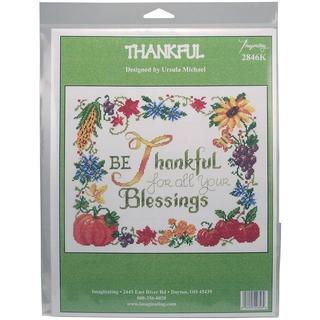 Thankful Counted Cross Stitch Kit - 9.75 X11.75 14 Count