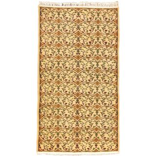 Ecarpetgallery Hand-knotted Keisari Beige Wool Rug (5'1 x 9')