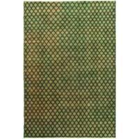 Ecarpetgallery Hand-knotted Keisari Green Wool Rug (6'7 x 10')
