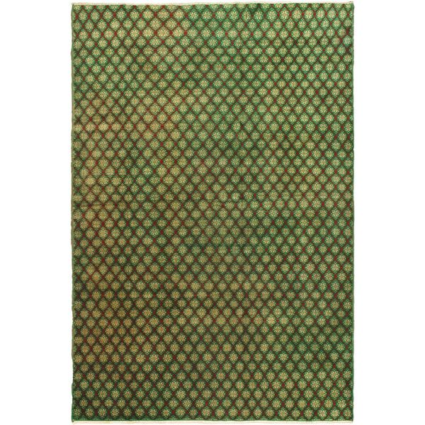 Ecarpetgallery Hand-knotted Keisari Green Wool Rug (6'7 x 10')