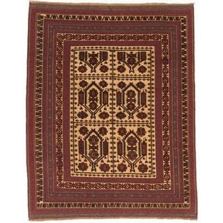Ecarpetgallery Hand-knotted Tajik Tribal Red and Yellow Wool Rug (6'10 x 8'8)