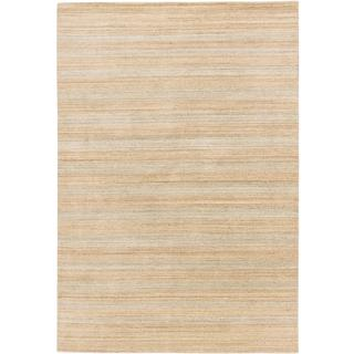 Ecarpetgallery Hand-knotted Kashkuli Gabbeh Beige and Grey Wool Rug (6'2 x 8'11)
