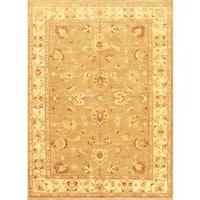 Ecarpetgallery Hand-knotted Chobi Finest Beige Wool Rug (6'5 x 8'6)
