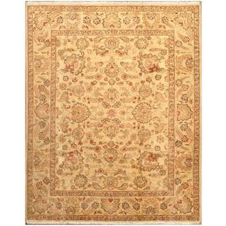 Ecarpetgallery Hand-knotted Chobi Finest Beige Wool Rug (6'7 x 8'2)
