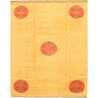 Ecarpetgallery Hand-knotted Finest Ziegler Chobi Multi and Yellow Wool Rug (6'10 x 8'6)