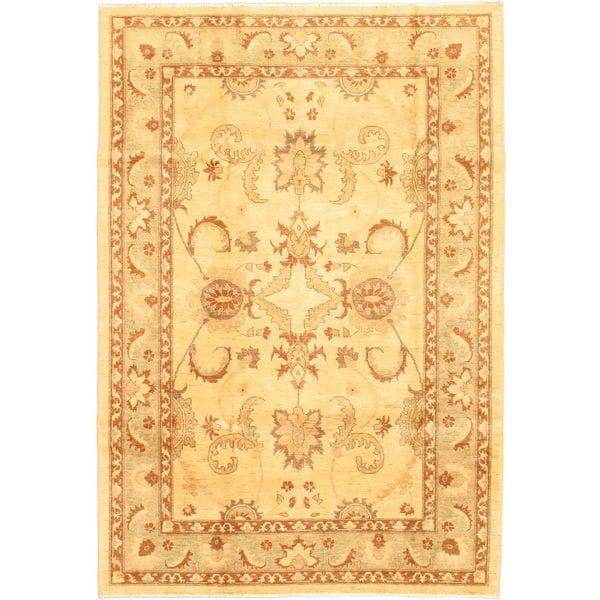 Ecarpetgallery Hand-knotted Chobi Finest Beige Wool Rug (6'2 x 8'10)