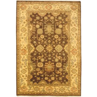 Ecarpetgallery Hand-knotted Royal Ushak Brown Wool Rug (6'1 x 8'10)