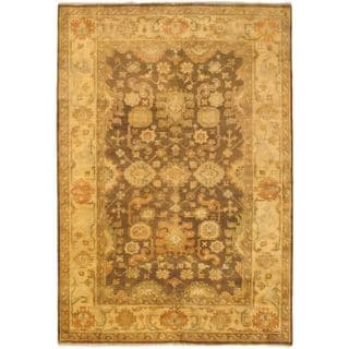 Ecarpetgallery Hand-knotted Royal Ushak Beige and Brown Wool Rug (6'1 x 8'10)