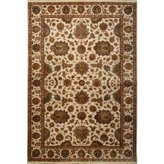 Ecarpetgallery Hand-knotted Mirzapur Beige Wool Rug (6'1 x 9')