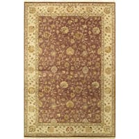 Ecarpetgallery Hand-knotted Jamshidpour Beige and Multi and Red Wool Rug (6'1 x 9'1)