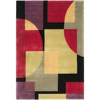 "Safavieh Handmade Rodeo Drive Modern Abstract Black/ Multi Wool Rug - 9'6"" x 13'6"""