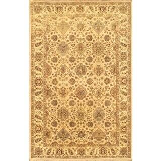 Ecarpetgallery Hand-knotted Jamshidpour Beige Wool Rug (5'8 x 8'9)