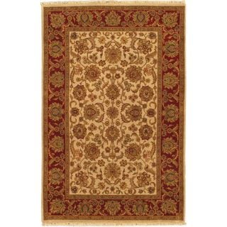Ecarpetgallery Hand-knotted Sultanabad Beige and Brown Wool Rug (6' x 9'2)