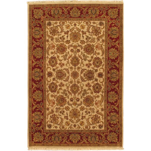 Ecarpetgallery Hand-knotted Sultanabad Beige and Brown Wool Rug - 6' x 9'2