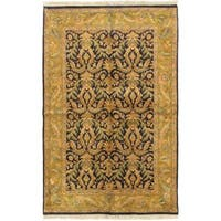 Ecarpetgallery Hand-knotted Sultanabad Blue and Brown and Multi Wool Rug (6'1 x 9'4)