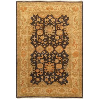 Ecarpetgallery Hand-knotted Royal Ushak Beige Wool Rug (6'2 x 8'10)
