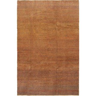 Ecarpetgallery Hand-knotted Persian Gabbeh Red and Yellow Wool Rug (6' x 9'1)
