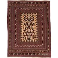 Ecarpetgallery Hand-knotted Tajik Tribal Red Wool Rug (6'9 x 8'7)