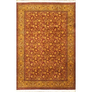 Ecarpetgallery Hand-knotted Double Knot Multi and Orange and Red Wool Rug (6'1 x 8'10)