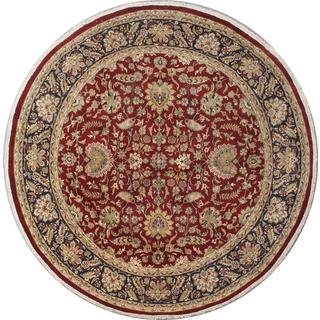 Ecarpetgallery Hand-knotted Double Knot Purple and Red Wool Rug (8' x 8'1)