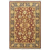 Ecarpetgallery Hand-knotted Pako Persian Blue and Multi and Red Wool Rug (6'1 x 9'4)