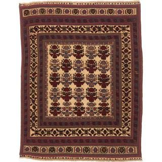 Ecarpetgallery Hand-knotted Tajik Tribal Red and Yellow Wool Rug (6'9 x 8'6)