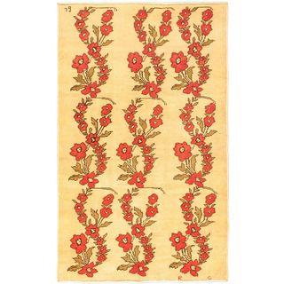 Ecarpetgallery Hand-knotted Keisari Beige Wool Rug (5'3 x 8'7)