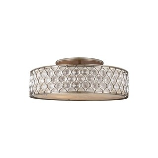 Feiss Lucia 6 Lights Burnished Silver Flushmount