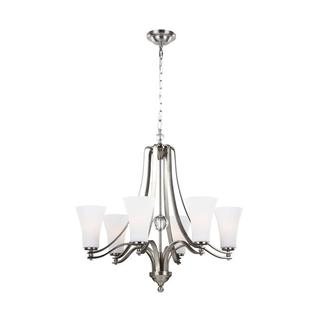 Feiss Evington 6-light Satin Nickel Chandelier