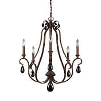 Feiss DeWitt 4 Lights Sunrise Silver Chandelier