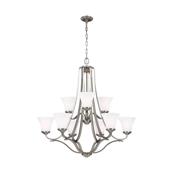 Feiss Hamlet 9 Lights Satin Nickel Chandelier