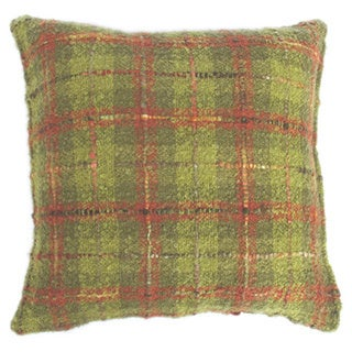 Plaid Mohair Throw Pillow