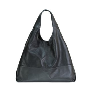 Leather Tote with Zipper Divider Compartment