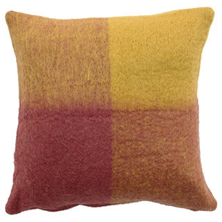 Mohair Checkered Throw Pillow