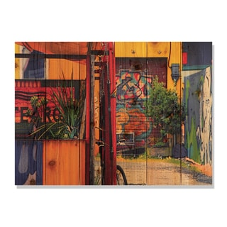 Garden Graffiti 33x24 Indoor/ Outdoor Full Color Cedar Wall Art