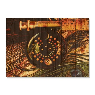 Fly Reel 33x24 Indoor/ Outdoor Full Color Cedar Wall Art