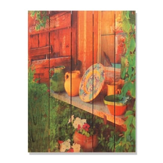 French Pottery 28x36 Indoor/ Outdoor Full Color Cedar Wall Art