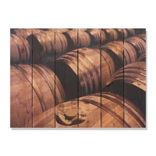 French Oak 33x24 Indoor/ Outdoor Full Color Cedar Wall Art
