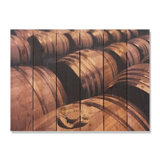 French Oak 33x24 Indoor/ Outdoor Full Color Cedar Wall Art