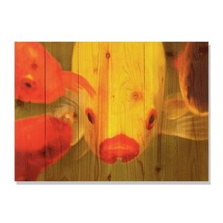 Fish Lips 33x24 Indoor/ Outdoor Full Color Cedar Wall Art
