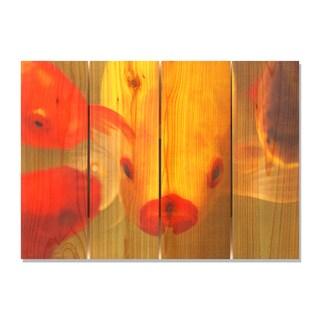 Fish Lips 22.5x16 Indoor/ Outdoor Full Color Cedar Wall Art