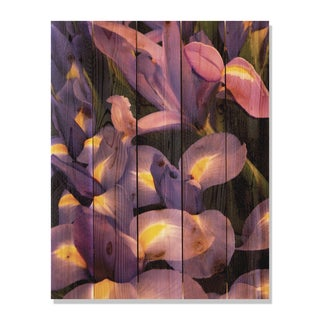 French Iris 28x36 Indoor/ Outdoor Full Color Cedar Wall Art