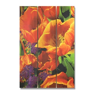 Full Bloom 16x24 Indoor/ Outdoor Full Color Cedar Wall Art